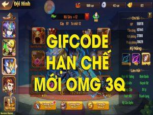 Share miễn phí List Code OMG 3Q update mới nhất