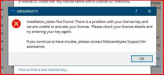 "lỗi ""License Key is Blacklisted (MBAM403100)"""