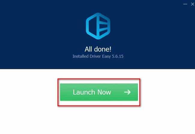 Nhấn Launch Now để chạy ứng dụng
