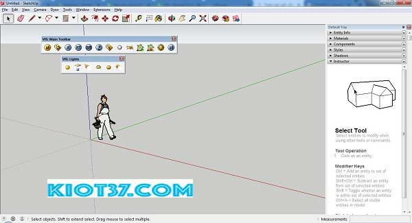 giao diện của SketchUp Pro 2016
