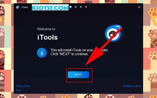 Nhấn NEXT để tiếp tục quá trình cài đặt iTools