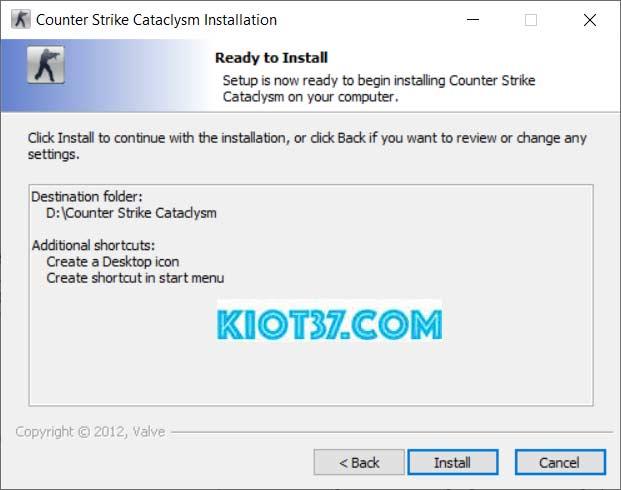 Nhấn vào ô Install để hệ thống tiến hành cài đặt game