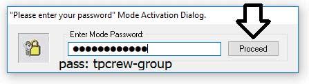 Nhập Pass tpcrew-group và Click chọn 'Proceed'