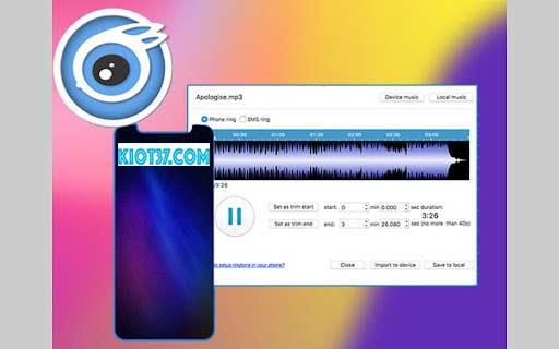 Tính năng iTools Ringtone Maker