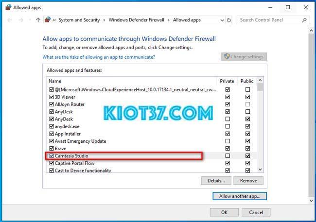 Ứng dụng bạn cần chặn đã được thêm vào Windows Firewall