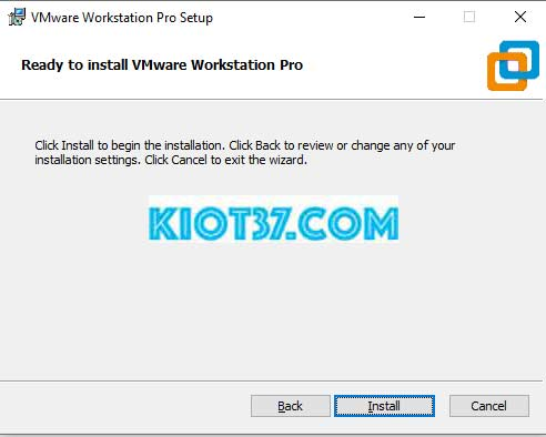 nhấn nút Install để hệ thống tiến hành quá trình cài đặt phần mềm