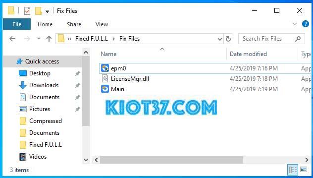 Copy 3 file có bên trong thư mục và tiếp tục dán vào thư mục cài đặt phần mềm