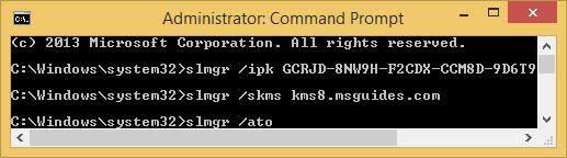 """nhập tiếp lệnh """"slmgr ato"""" vào hộp thoại Command Prompt rồi nhấn Enter"""